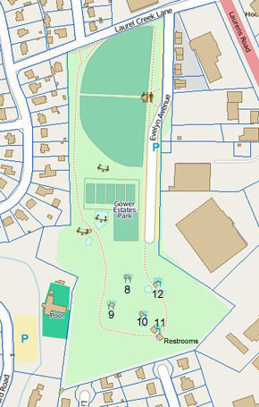 Gower Park Map