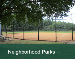 Baseball field, at a Greenville neighorhood park